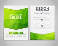 Polygonal designreklamblad och broschyrer Arkivbilder