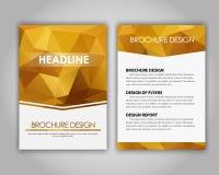 Polygonal designreklamblad och broschyrer Royaltyfri Bild