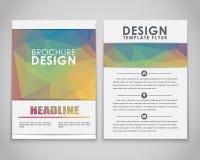 Polygonal designreklamblad och broschyrer Arkivfoto