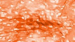 Polygonal digital mosaic shifting environment or transforming shining background in cartoon low poly popular modern stock video