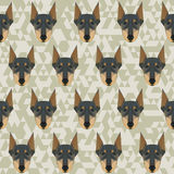 Polygonal doberman Royalty Free Stock Image