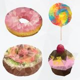 Polygonal donut, cakes, sweet Stock Image