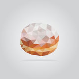 Polygonal donut illustration stock photos