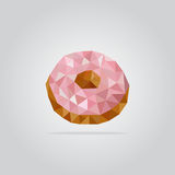 Polygonal donut illustration Royalty Free Stock Images