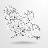 Polygonal Eagle Outline Royalty Free Stock Photos