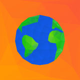 Polygonal earth planet - vector illustration Royalty Free Stock Images
