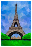 Polygonal Eiffel Tower Stock Photo
