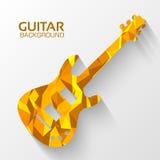 Polygonal electro guitar vector background concept Royalty Free Stock Photo