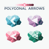 Polygonal elements with arrows Royalty Free Stock Image