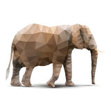Polygonal elephant Stock Images