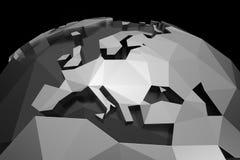 Polygonal Europe. 3d polygonal style illustration of Europe stock illustration