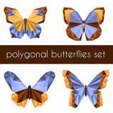 Polygonal fjärilar Royaltyfri Fotografi