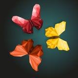 Polygonal fjärilar Arkivfoto