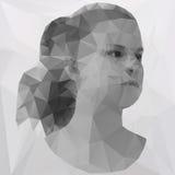 Polygonal flicka Arkivfoton