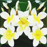 Origami polygonal flowers pattern in yellow, black and white. Polygonal flowers pattern in yellow, black and white Stock Image