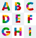 Polygonal font Stock Images