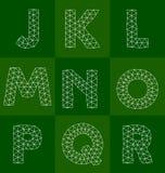 Polygonal font Stock Image
