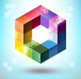 polygonal form 3d Arkivfoto
