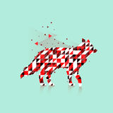 Polygonal fox logo Stock Images