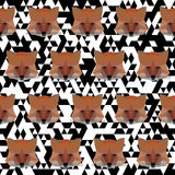 Polygonal fox pattern background Royalty Free Stock Image