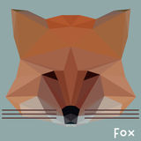 Polygonal fox. Polygonal wild fox vector triangles background Stock Images