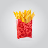 Polygonal free potato illustration Royalty Free Stock Photo