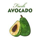 Polygonal fresh avocado Royalty Free Stock Image