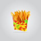 Polygonal fried potato illustration Stock Photo