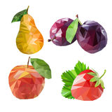 Polygonal fruit. Vector illustration Stock Photography