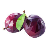Polygonal fruit. Vector illustration Royalty Free Stock Image