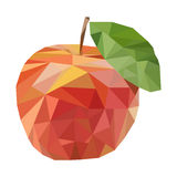 Polygonal fruit. Vector illustration Royalty Free Stock Photography