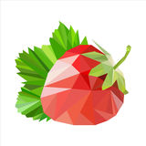 Polygonal fruit. Vector illustration Royalty Free Stock Images