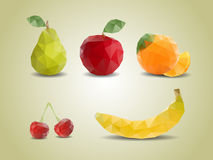 Polygonal fruits Royalty Free Stock Photo