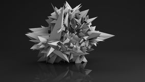 Polygonal futuristic shape abstract 3D render Royalty Free Stock Image