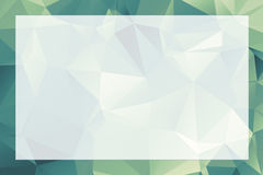 Polygonal geometric abstract textured border and background gree Royalty Free Stock Photography