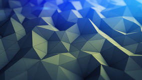 Polygonal geometric background abstract 3D render illustration. Polygonal geometric background. Abstract 3D render illustration with shallow DOF Royalty Free Illustration