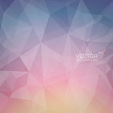 Polygonal geometric background with dawn color Royalty Free Stock Photo