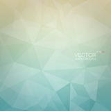 Polygonal geometric background with light blue and beige gradient backdrop Royalty Free Stock Photography