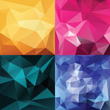 Polygonal Geometric backgrounds. Stock Photos