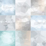 Polygonal Geometric backgrounds. Stock Photography