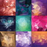 Polygonal Geometric backgrounds. Stock Images