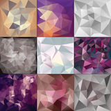 Polygonal Geometric backgrounds. Stock Photo