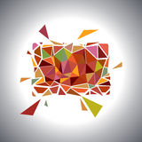 Polygonal Geometric Card.  Vector Stock Images