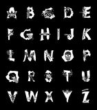 Polygonal geometric font. Geometric font. Creative Alphabet. Abstract  hipster font,  drawn by hand illustration Royalty Free Stock Photography