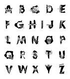 Polygonal geometric font. Geometric font. Creative Alphabet. Abstract  hipster font,  drawn by hand illustration Stock Photo