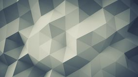 Polygonal geometric grey surface 3D render. Polygonal geometric grey surface. Computer generated abstract background 3D rendering royalty free illustration