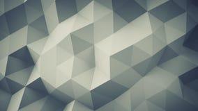 Polygonal geometric grey surface 3D render. Polygonal geometric grey surface. Computer generated abstract background 3D rendering Stock Image