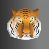 Polygonal geometric WPAP tiger head. Polygonal geometric low poly tiger head. WPAP vector illustration royalty free illustration