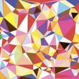 Polygonal geometriskt för abstrakt färgrik triangel Royaltyfri Bild