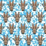 Polygonal giraffe pattern background Stock Photo